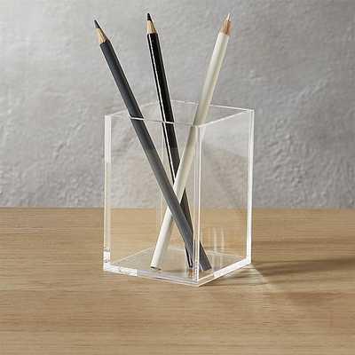 acrylic pencil cup - CB2