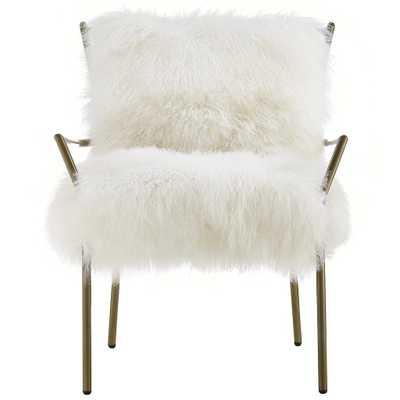 Laurel White Sheepskin Chair - Maren Home