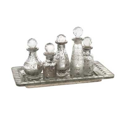 Macaire Mini Bottles with Trays - Set of 6 - Mercer Collection