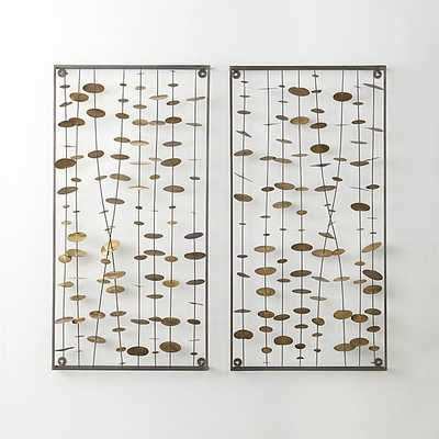Set of Chimes Metal Wall Sculptures 2 - Crate and Barrel