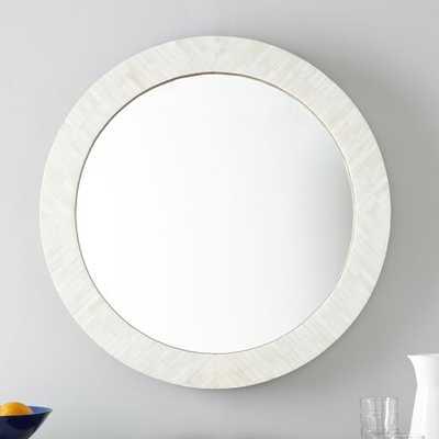Parsons Round Mirror - Bone Inlay - West Elm