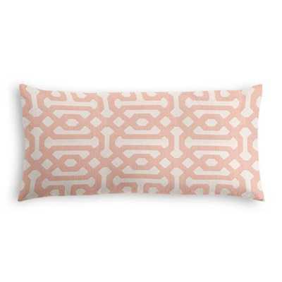 Lumbar Pillow  Sunbrella® Fretwork - Cameo, Poly Insert - Loom Decor