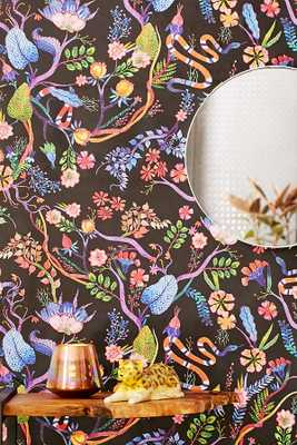 whimsical floral removable wallpaper - Urban Outfitters