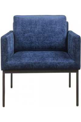 Gabriella Navy Velvet Chair - Maren Home