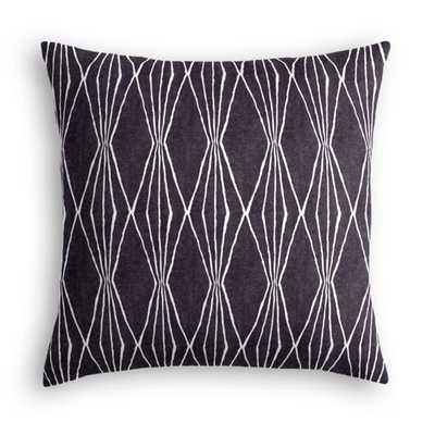 "Throw Pillow Handcut Shapes - Charcoal - 18"" x 18"" - Down Insert - Loom Decor"