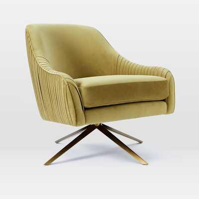 Roar + Rabbit™ Swivel Chair -Dusty Blush, wasabi - West Elm