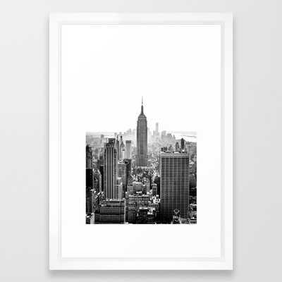 FRAMED ART PRINT VECTOR WHITE  New York City - Society6