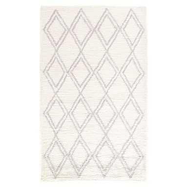 Diamond Shag Rug, 5x8, Ivory/Gray - Pottery Barn Teen