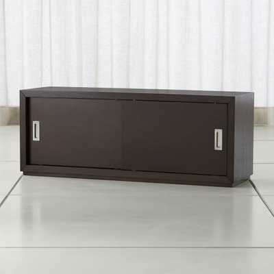 "Aspect Coffee 47.5"" Modular Sliding Door Storage Unit - Crate and Barrel"