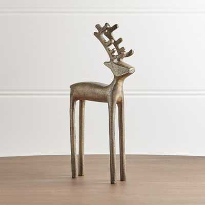 "10.5"" Brass Reindeer - Crate and Barrel"