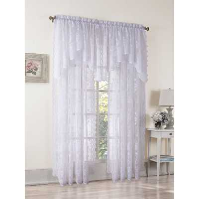 Alison Nature/Floral Sheer Rod Pocket Single Curtain Panel - Wayfair