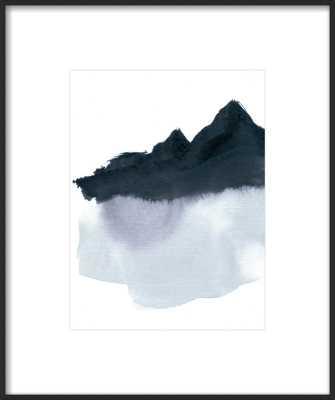 "Mountain Scape Minimal - 11 x 14"" - matte black - Artfully Walls"