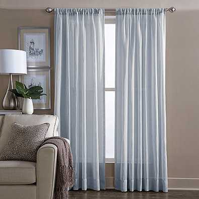 Wamsutta Sheer 108-Inch Window Curtain Panel in Blue - Bed Bath & Beyond