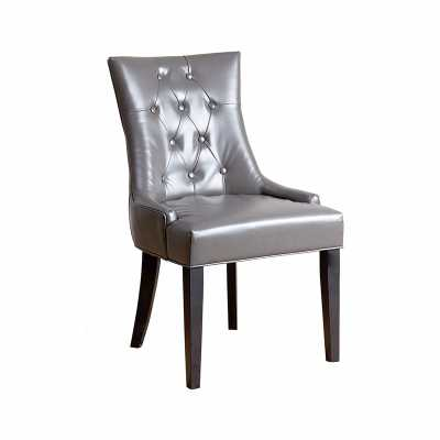 NAPA GREY LEATHER DINING CHAIR - Abbyson Living