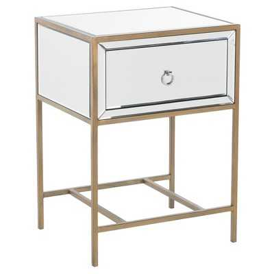 Rodeo End Table - Mirrored Gold - Christopher Knight Home - Target