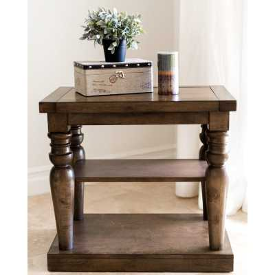 CYPRESS WOOD END TABLE - Abbyson Living