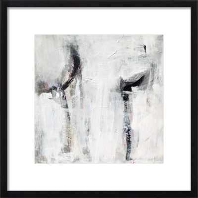 "Untitled - Framed art Print - Black Wood Frame, White Mat - 16"" sq. - Artfully Walls"