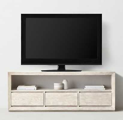 "CALLUM WIDE MEDIA CONSOLE - Weathered White, 25""H - RH Teen"