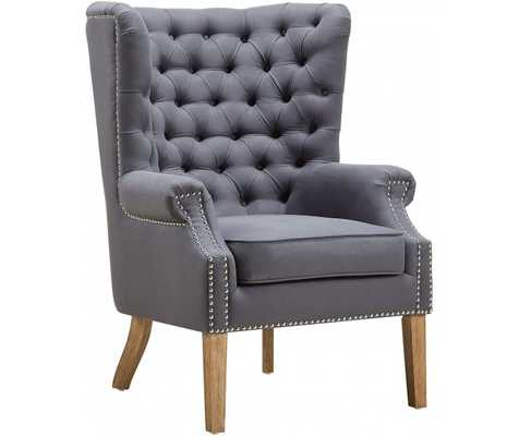 Kaitlyn Morgan LINEN WING CHAIR - Maren Home