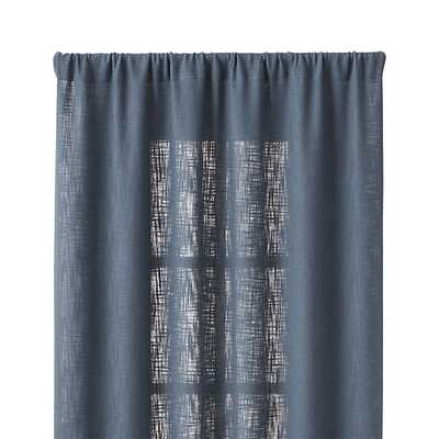"Lindstrom Blue 48""x96"" Curtain Panel - Crate and Barrel"