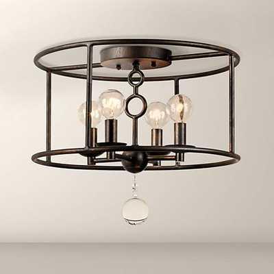 "Crystorama Cameron 15"" Wide Bronze Ceiling Light - Lamps Plus"
