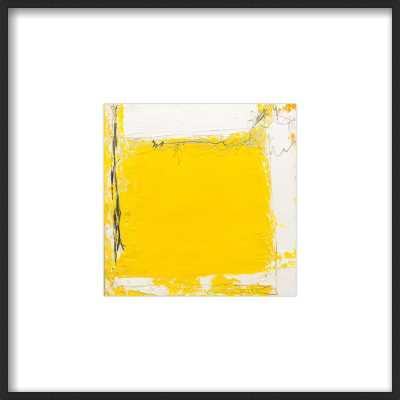 Tache Juane - Framed - Thin Black Wood, frame - White Mat - Artfully Walls