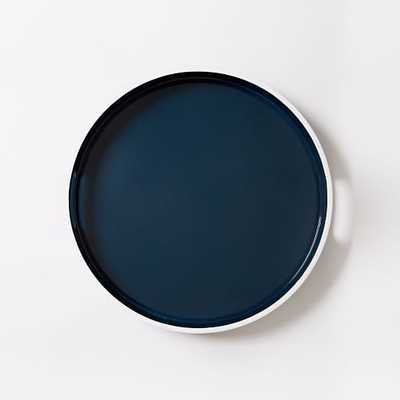 White Rim Lacquer Trays - Small Round - West Elm