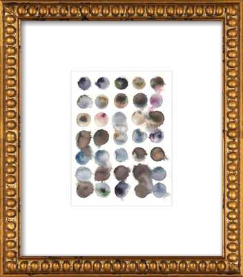"Deciphering nature - 14x16"" - Gold Crackle Bead Wood Frame with Matte - Artfully Walls"
