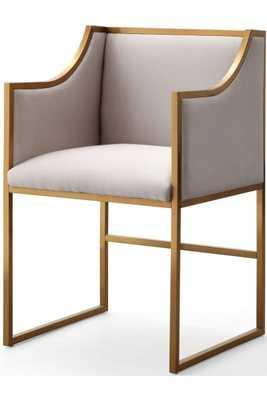 Atwell Cream Velvet Lilly Chair - Maren Home