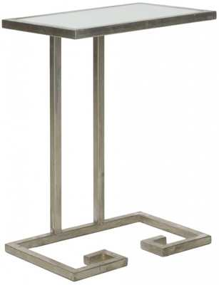 MURPHY ACCENT TABLE SILVER W/MIRROR TOP - Arlo Home