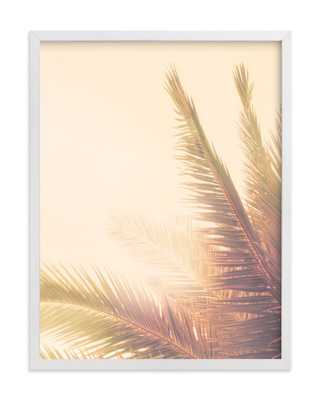 "Golden Palm Tree- 18"" x 24""-Framed - Minted"