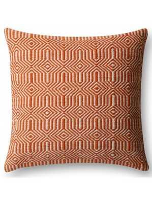 KIARA INDOOR/OUTDOOR PILLOW, ORANGE - Lulu and Georgia