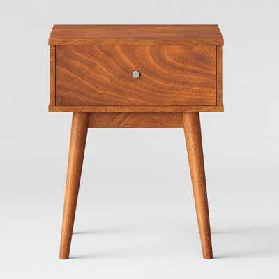 """24"""" Amherst Mid Century Modern Side Table Brown - Project 62 - Target"""