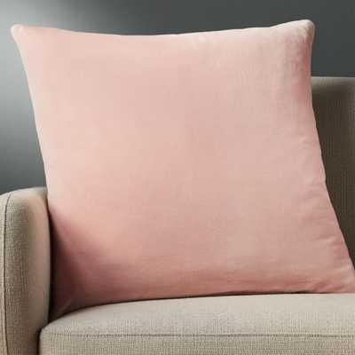 "23"" leisure blush pillow with feather-down insert - CB2"