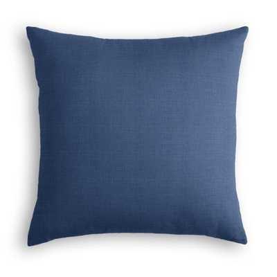 "Classic Linen Pure - Indigo - Pillow - 22"" no insert - Loom Decor"