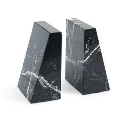 BLACK AND WHITE MARBLE BOOKENDS - Mitchell Gold + Bob Williams