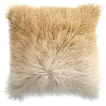 """Ombre Mongolian Pillow 22"""" - Z Gallerie"""