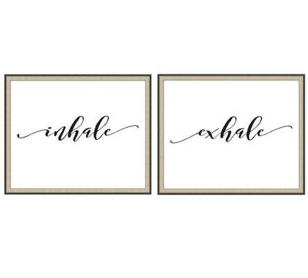 "INHALE EXHALE PRINT, 22 X 18"", SET OF 2 - Pottery Barn"