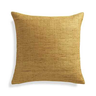 """Trevino Sunflower Yellow 20"""" Pillow Cover - Crate and Barrel"""
