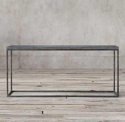 """DELPHINE BLUESTONE & METAL CONSOLE TABLE - 67"""" W - RH"""