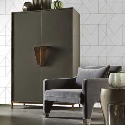 Gold Kellys Geo Removable Wallpaper - Home Depot