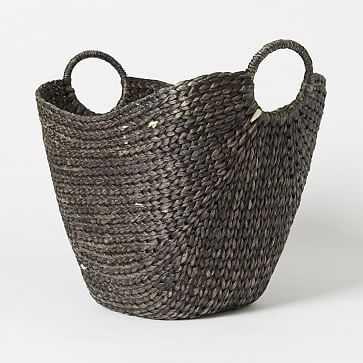 Curved Basket, Large, Black Wash - West Elm
