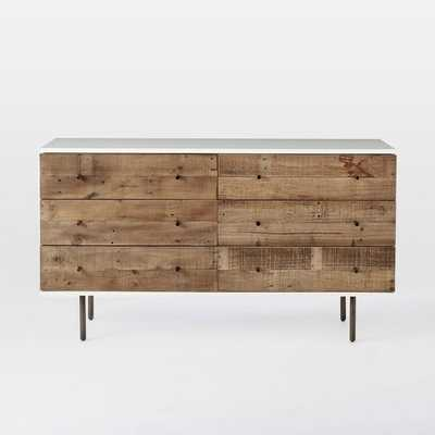 Reclaimed Wood + Lacquer Storage 6-Drawer Dresser, Reclaimed Pine, Gray Wash - West Elm