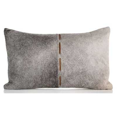 Gannon Hair on Faux Leather Lumbar Pillow - Wayfair