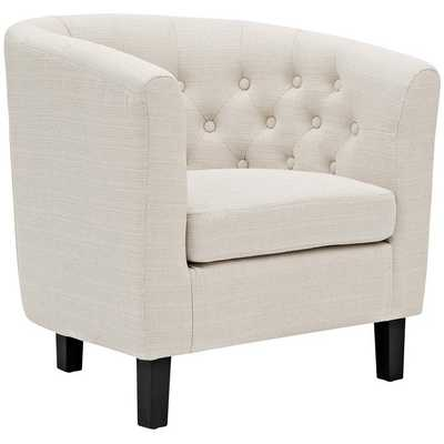 PROSPECT UPHOLSTERED ARMCHAIR IN BEIGE - Modway Furniture