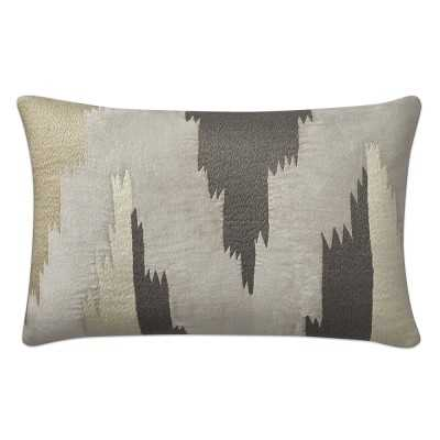 "Ventana Ikat Velvet Lumbar Pillow Cover, 14"" X 22"", Grey - Williams Sonoma"