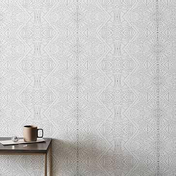 Starburst Wallpaper, Slate - West Elm
