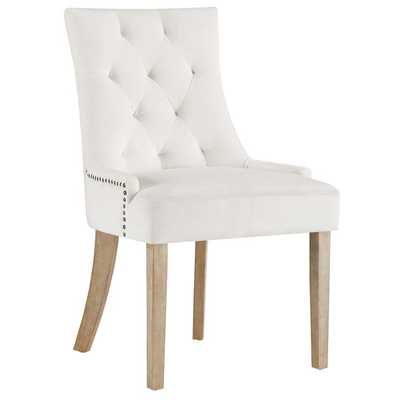 Pose Performance Velvet Dining Chair in Ivory - Modway Furniture