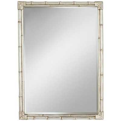 "Bamboo Silver 31"" x 43"" Rectangle Wall Mirror - Lamps Plus"