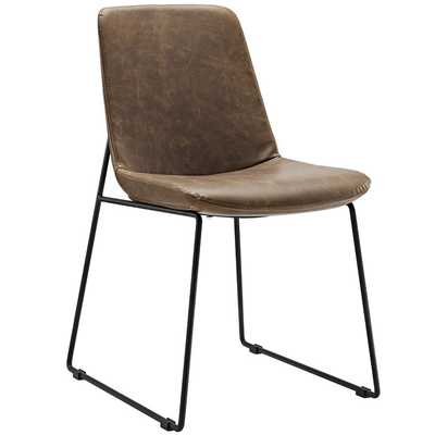 INVITE DINING SIDE CHAIR IN BROWN - Modway Furniture